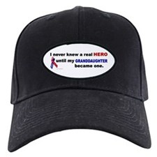 Never Knew A Hero.....Granddaughter (ARMY) Baseball Hat