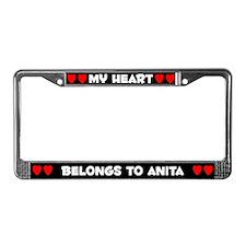 My Heart: Anita (#001) License Plate Frame
