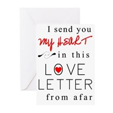 I send you my heart Greeting Cards (Pk of 10)