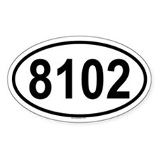 8102 Oval Decal