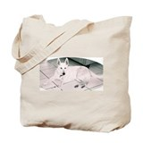 White German Shepherd Dog, to Tote Bag