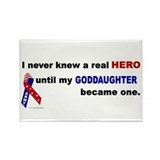 Never Knew A Hero.....Goddaughter (ARMY) Rectangle