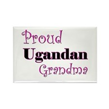 Proud Ugandan Grandma Rectangle Magnet