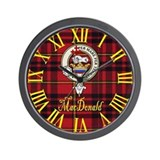 MacDonald Clan Crest / Tartan Wall Clock