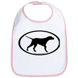 Pointer Dog Oval Bib