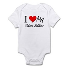 I Heart My Video Editor Infant Bodysuit