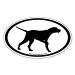 Pointer Dog Oval (inner border #2) Oval Sticker