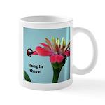Ladybug on Zinnia Mug