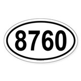 8760 Oval Decal