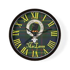 MacLaren Clan Crest / Tartan Wall Clock