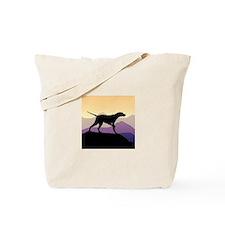 Purple Mountains Pointer Tote Bag