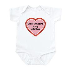 Great Grandma is My Valentine Infant Bodysuit