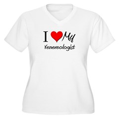 I Heart My Venereologist Women's Plus Size V-Neck