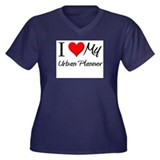 I Heart My Urban Planner Women's Plus Size V-Neck
