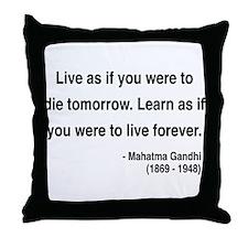 Gandhi 2 Throw Pillow