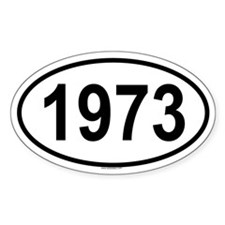 1973 Oval Decal