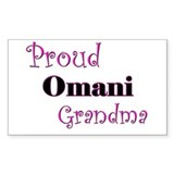 Proud Omani Grandma Rectangle Decal