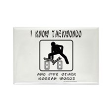 I KNOW TAEKWONDO Rectangle Magnet