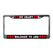 My Heart: Abe (#002) License Plate Frame
