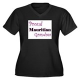 Proud Mauritian Grandma Women's Plus Size V-Neck D