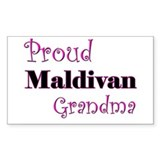 Proud Maldivan Grandma Rectangle Decal