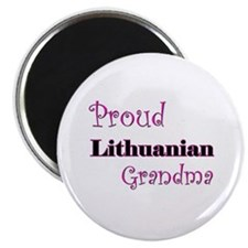"Proud Lithuanian Grandma 2.25"" Magnet (10 pack)"