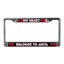 My Heart: Anita (#002) License Plate Frame