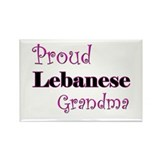 Proud Lebanese Grandma Rectangle Magnet