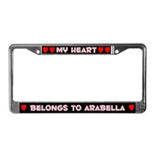 My Heart: Arabella (#002) License Plate Frame
