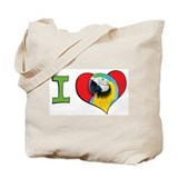 I heart macaws Tote Bag