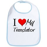 I Heart My Translator Bib