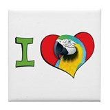 I heart macaws Tile Coaster