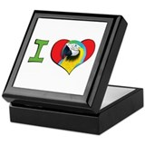 I heart macaws Keepsake Box