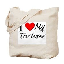 I Heart My Torturer Tote Bag
