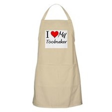 I Heart My Toolmaker BBQ Apron