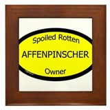 Spoiled Affenpinscher Owner Framed Tile