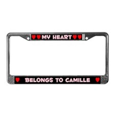 My Heart: Camille (#002) License Plate Frame