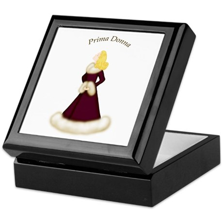 Blonde Prima Donna in Burgundy Dress Keepsake Box