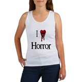 Bloody I heart horror gore Women's Tank Top