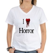 Bloody I heart horror gore Shirt