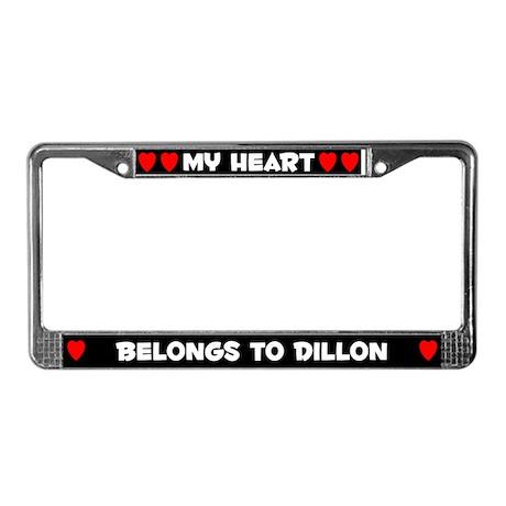My Heart: Dillon (#001) License Plate Frame