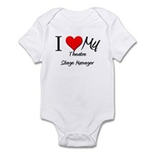 I Heart My Theatre Stage Manager Infant Bodysuit