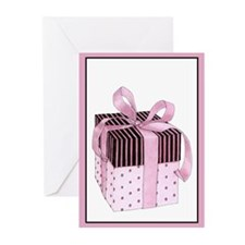 Pink & Black Gift Greeting Cards (Pk of 10)