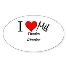 I Heart My Theatre Director Oval Decal