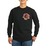 Red Ruffled Daylily Long Sleeve Dark T-Shirt