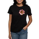Red Ruffled Daylily Women's Dark T-Shirt