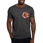 Red Ruffled Daylily Dark T-Shirt