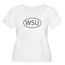 WSU Womens Plus-Size Scoop Neck T
