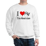 I Heart My Technician Sweatshirt