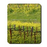wine country mustard bloom vineyard mousepad
